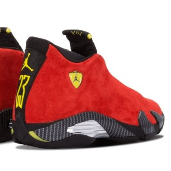 official photos 09600 4122b Nike Air Jordan 14 Retro Ferrari NWT